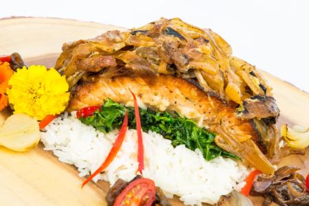 Salmon, Jupiter Catering Company